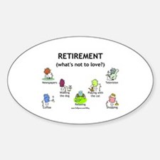 Retirement Love Oval Decal