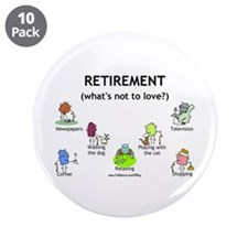 "Retirement Love 3.5"" Button (10 pack)"