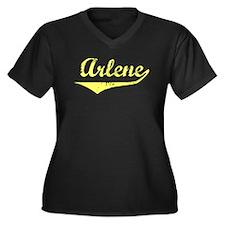 Arlene Vintage (Gold) Women's Plus Size V-Neck Dar