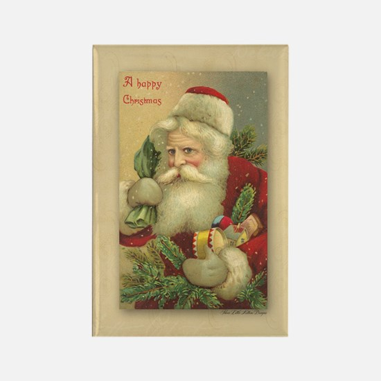 TLK024 Vintage Santas Rectangle Magnet