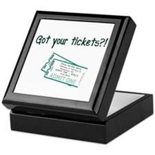 Gun Show Tickets Keepsake Box