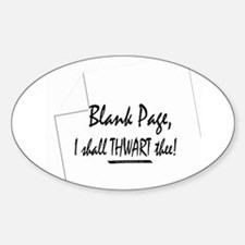 Blank Page Oval Decal
