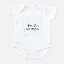 Blank Page Infant Bodysuit