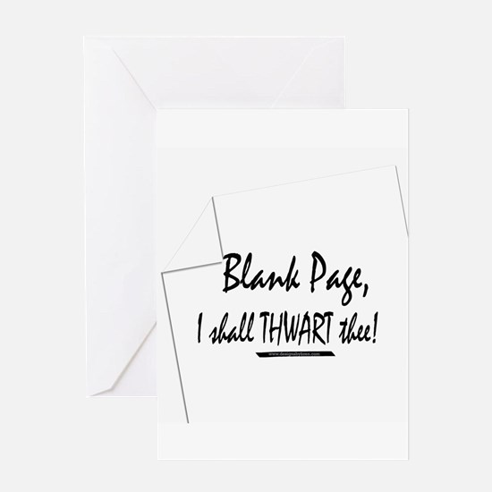 Blank Page Greeting Card