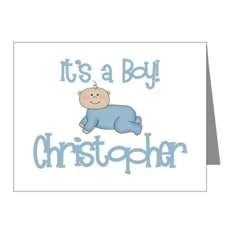 Christopher - It's a Boy Note Cards (Pk of 10)