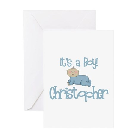 Christopher - It's a Boy Greeting Card