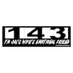 143 - Sal's Wife's Emotional Friend Sticker (Bumpe