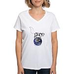 Peace On Earth (Cat) Women's V-Neck T-Shirt