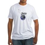 Peace On Earth (Cat) Fitted T-Shirt