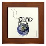 Peace On Earth (Cat) Framed Tile