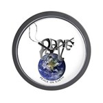 Peace On Earth (Cat) Wall Clock