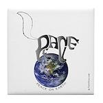 Peace On Earth (Cat) Tile Coaster