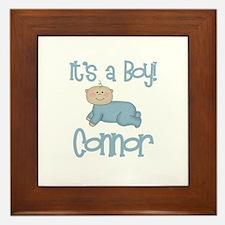 Connor - It's a Boy  Framed Tile