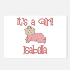 Isabella - It's a Girl Postcards (Package of 8)