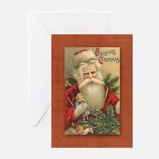TLK024 Vintage Santas Greeting Cards (Pk of 20)