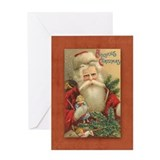 Vintage santa christmas Greeting Cards