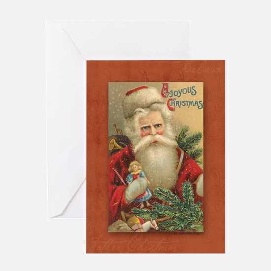 TLK024 Vintage Santas Greeting Card