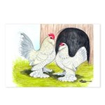 Porcelain d'Uccle Rooster and Postcards (Package o
