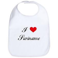 I Love Suriname Bib