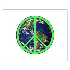 Earth Peace Symbol Posters