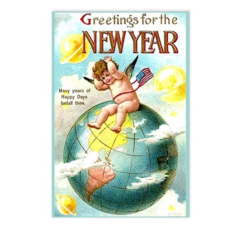 Happy New Year #1 Postcards (Package of 8)