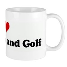 I Love My Hubby and Golf Coffee Mug