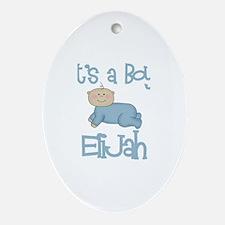 Elijah - It's a Boy  Oval Ornament