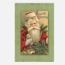 TLK024 Vintage Santas Postcards (Package of 8)