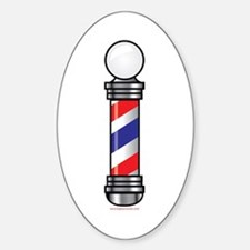 Barber Pole Sticker (Oval)