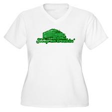 Keep on Truckin' Women's Plus Size V-Neck T-Shirt