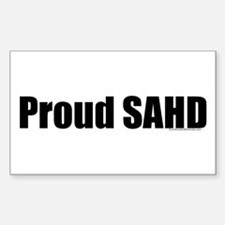 Proud SAHD Rectangle Decal