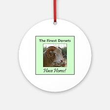 Horned Dorset Ornament (Round)