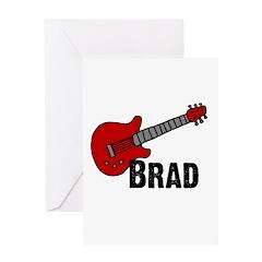 Guitar - Brad Greeting Card