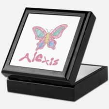 Pink Butterfly Alexis Keepsake Box