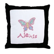 Pink Butterfly Alexis Throw Pillow