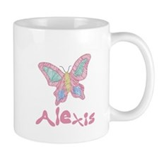 Pink Butterfly Alexis Mug