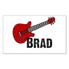 Guitar - Brad Rectangle Decal