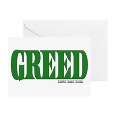 Greed Logo Greeting Card