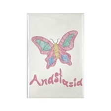 Pink Butterfly Anastasia Rectangle Magnet