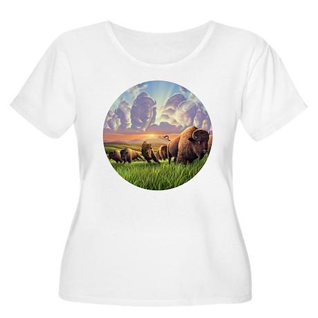 Stampede! Women's Plus Size Scoop Neck T-Shirt