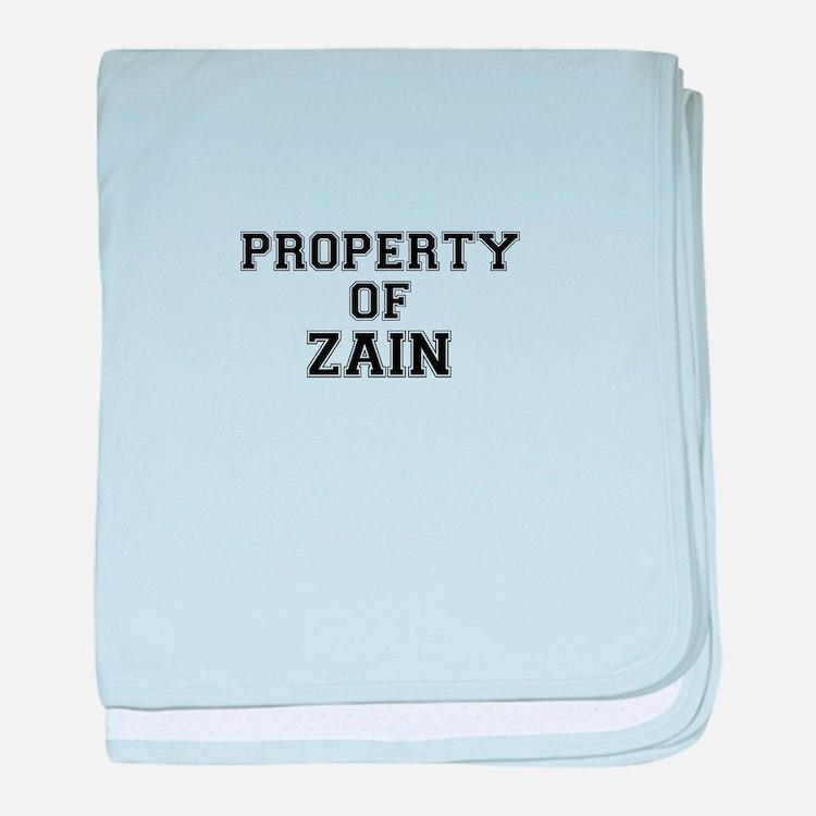 Property of ZAIN baby blanket