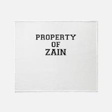 Property of ZAIN Throw Blanket