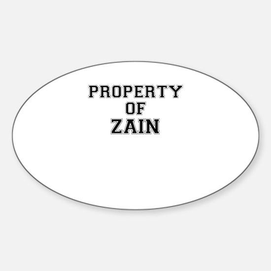 Property of ZAIN Decal