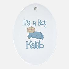 Kaleb - It's a Boy  Oval Ornament