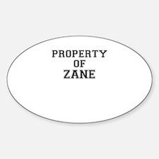 Property of ZANE Decal