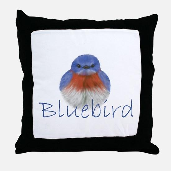 bluebird design Throw Pillow