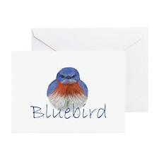 bluebird design Greeting Cards (Pk of 20)