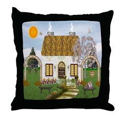 Sunshine Cottage Throw Pillow