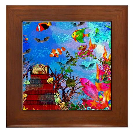 Fish Tank Fantasy Framed Tile