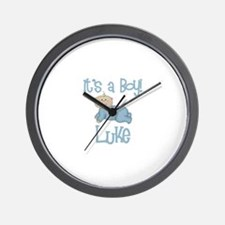 Luke - It's a Boy  Wall Clock